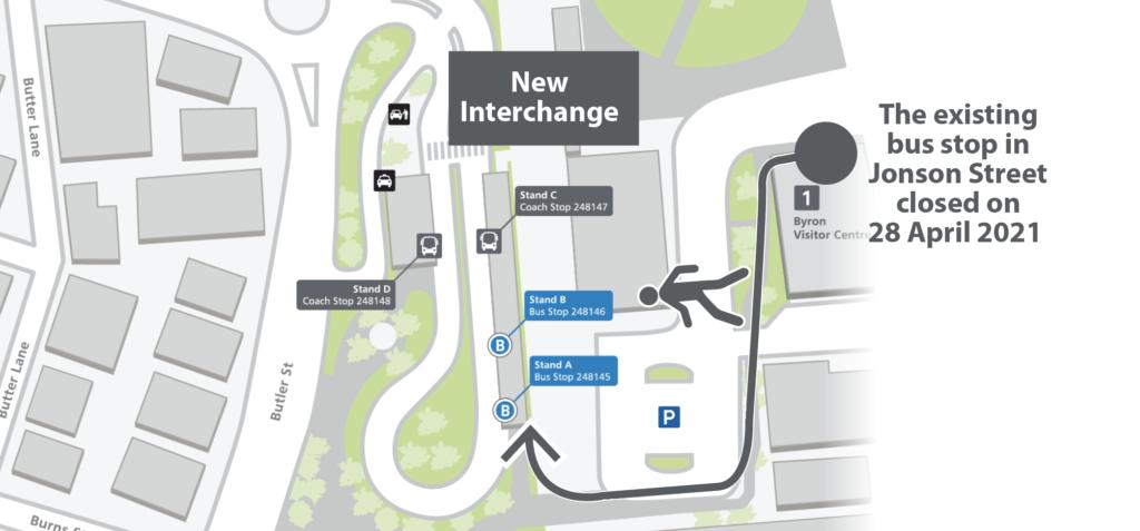 Byron Bay Bus Interchange Map